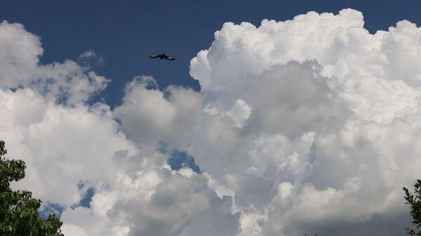 Clouds  blue  movement video