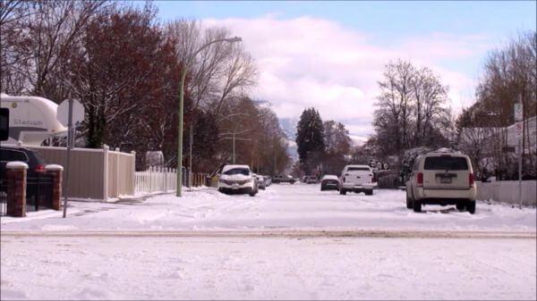 Winter  snow  street video