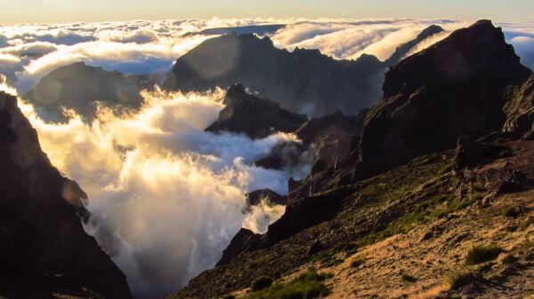 Island  madeira  clouds video