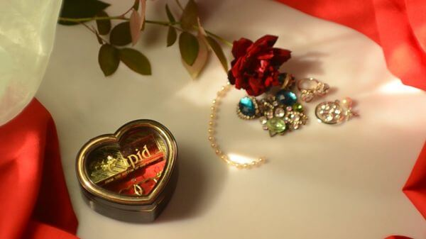 Valentine's day  music box  red rose video