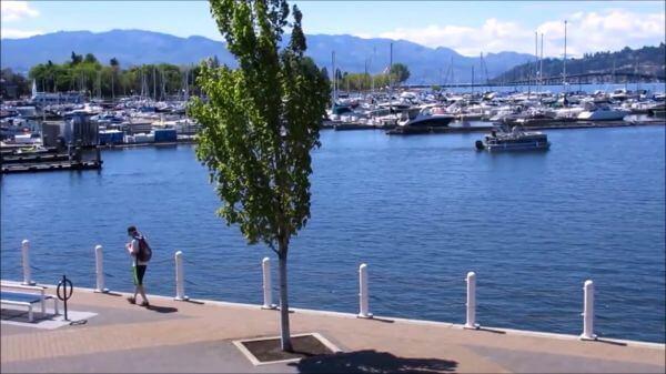 Lake  boats  beach video