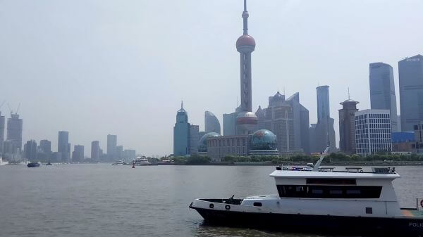 Shanghai  the bund  landscape video