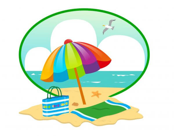 Summer Beach Day vector