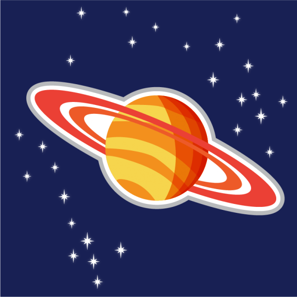 Illustration of Saturn planet vector