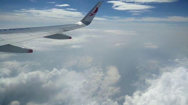 Plane  flight  clouds video