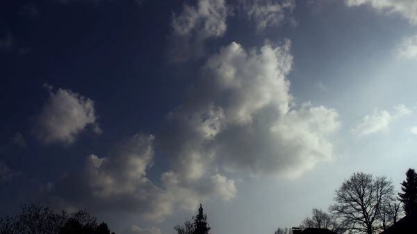 Clouds  evening  atmosphere video
