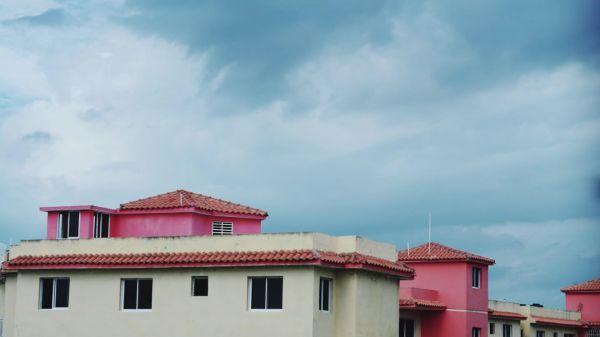 Buildings  sky  clouds video