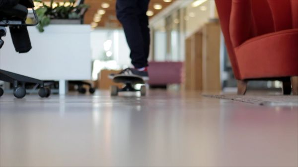 Office  skateboard  young video