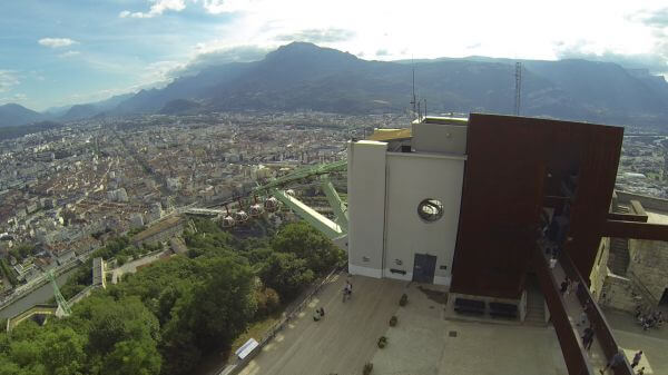 Grenoble  cable car  france video