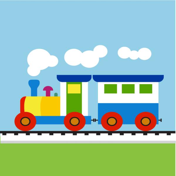 Colorful Child train
