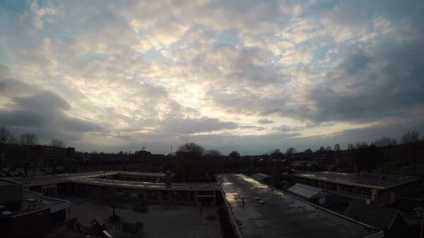 Sunset  timelapse  cloudy video
