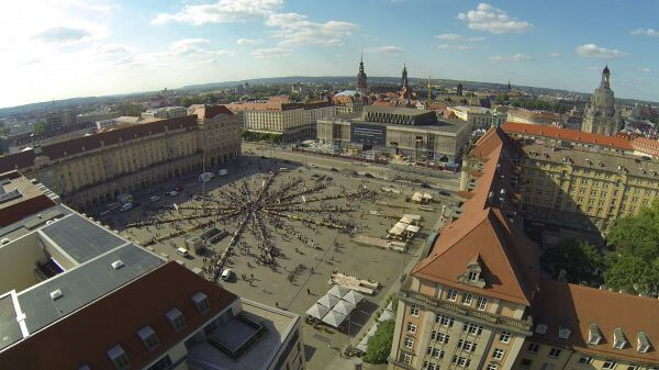 Dresden  old market  saxony video