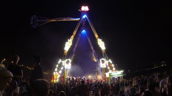 Folk festival  fairground  ride video