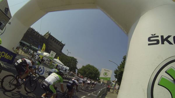 Cycling races  dresden  professional road bicycle racer video