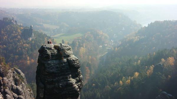 Elbe sandstone mountains  climbing peak  climber video