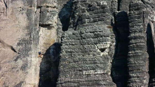 Climber  elbe sandstone mountains  saxon switzerland video