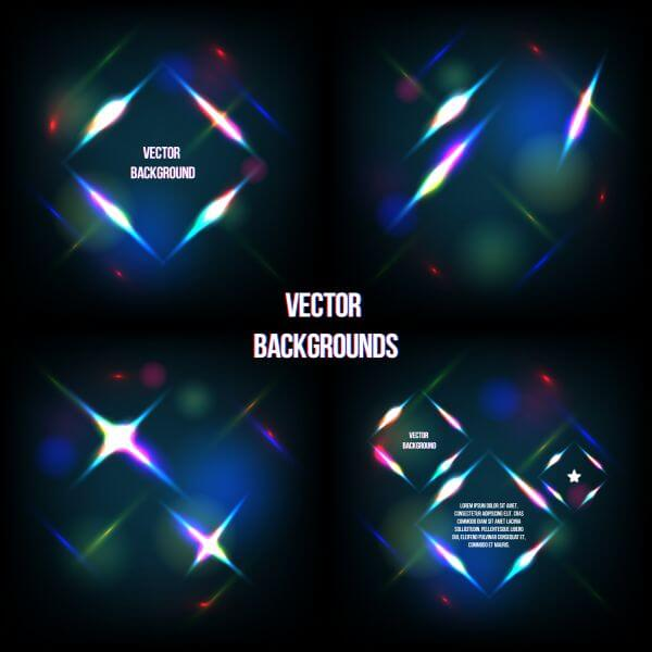 Geometric light background vector