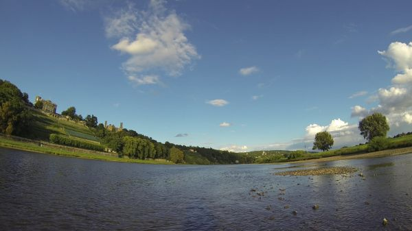 Elbe  dresden  river video