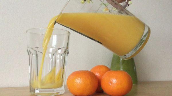 Orange juice  pouring  drink video