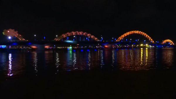 Dragon bridge  bridge  lights video