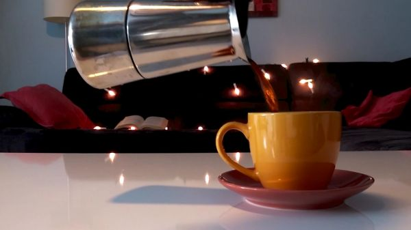 Coffee  hot  teacup video