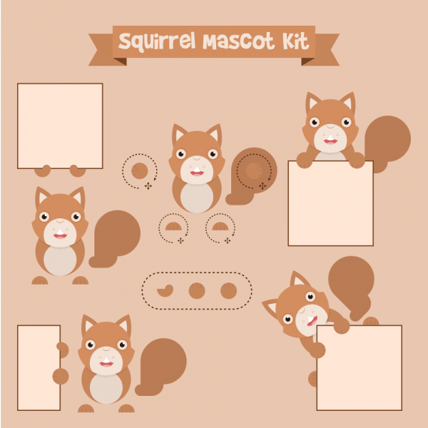 Squirrel mascot vector