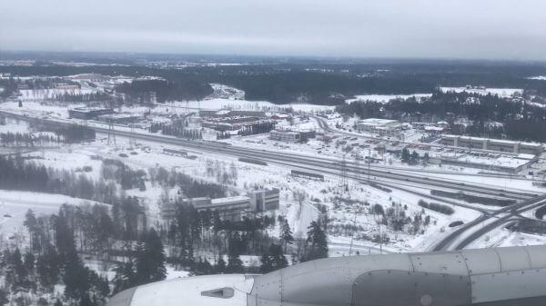 Flying  landing  travel video
