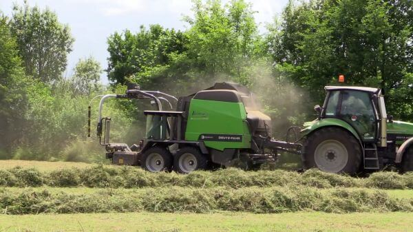 Hay  agriculture  tractor video