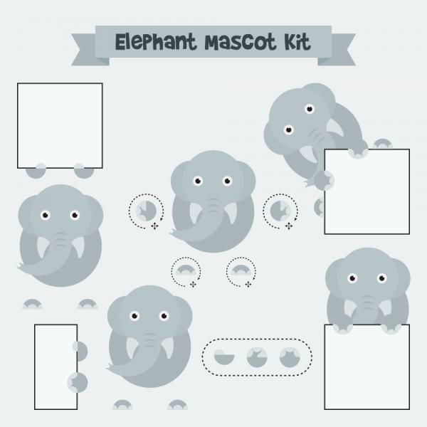 Elephant mascot vector