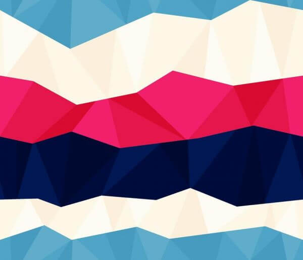 Colorful Polygon Pattern vector