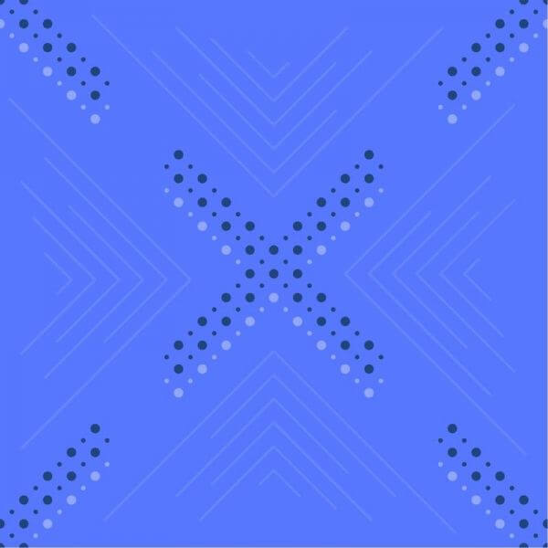Dots and Lines Pattern vector