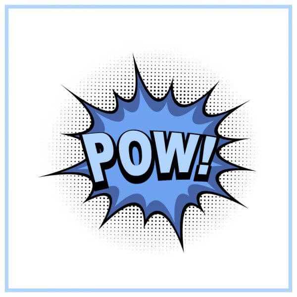 Comic book explosion, pow vector