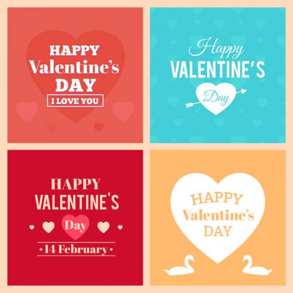 Happy Valentine's Day Cards vector