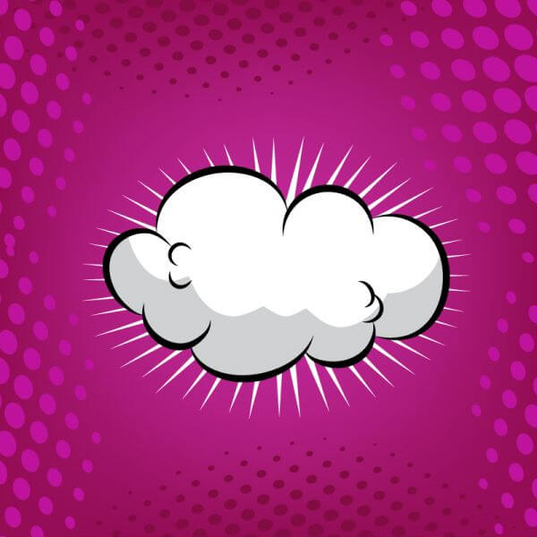 Comic Book Cloud Background vector