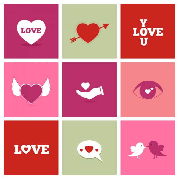 Valentine's Day Icons vector