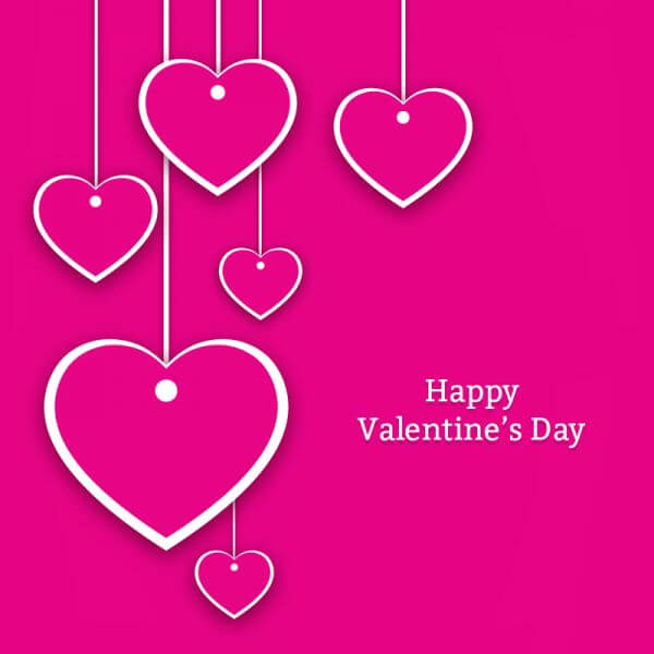 Valentine's Day Hearts Card vector