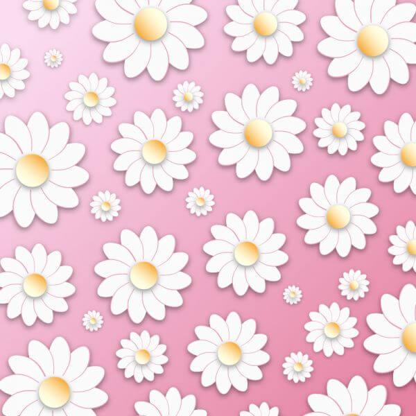 Floral 3D Pattern vector