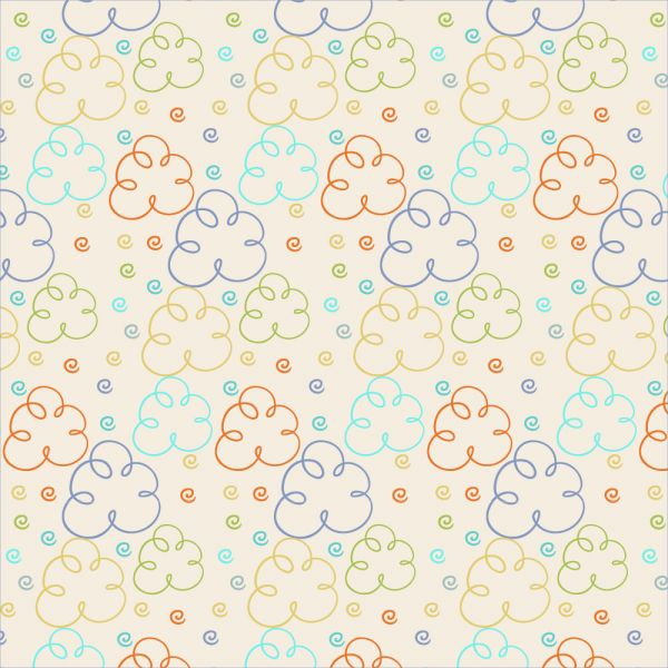 Cute pattern with clouds vector
