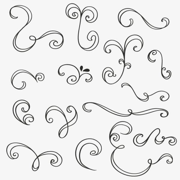 Vintage vector set of handdrawn decorations vector