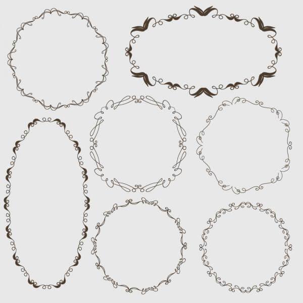 Vintage vector set of ornamental frames vector