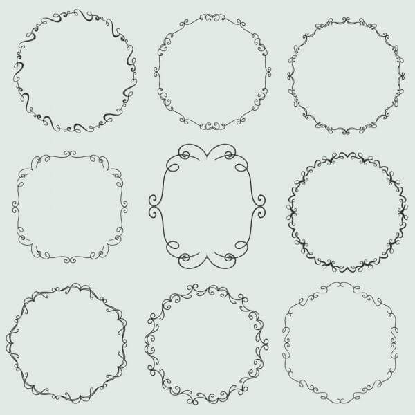 Vintage vector set of ornamental frames vector