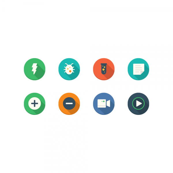 Filo Icons - Mini Set 6 vector