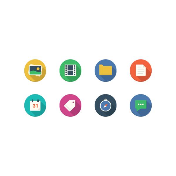 Filo Icons - Mini Set 1 vector