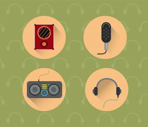 Music objects for design. Vector illustration vector