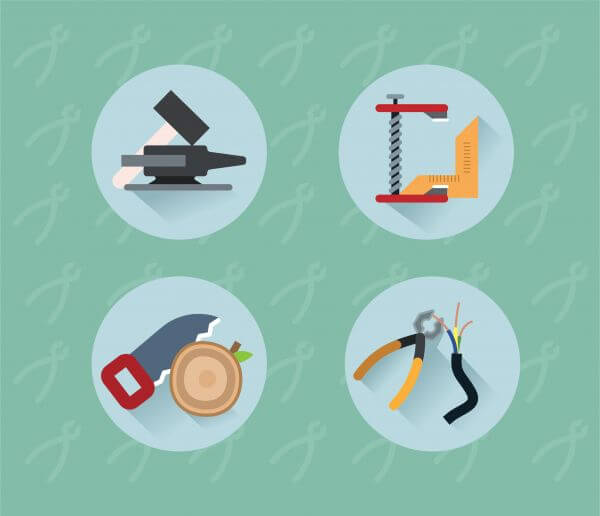 Tools objects for design. Vector illustration