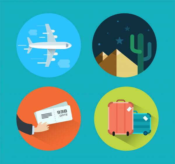 Travel icons for design. Vector illustration vector