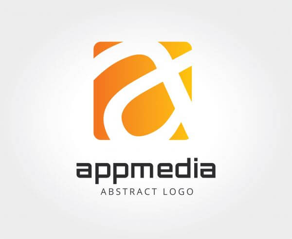 Abstract vector logo template for branding and design vector