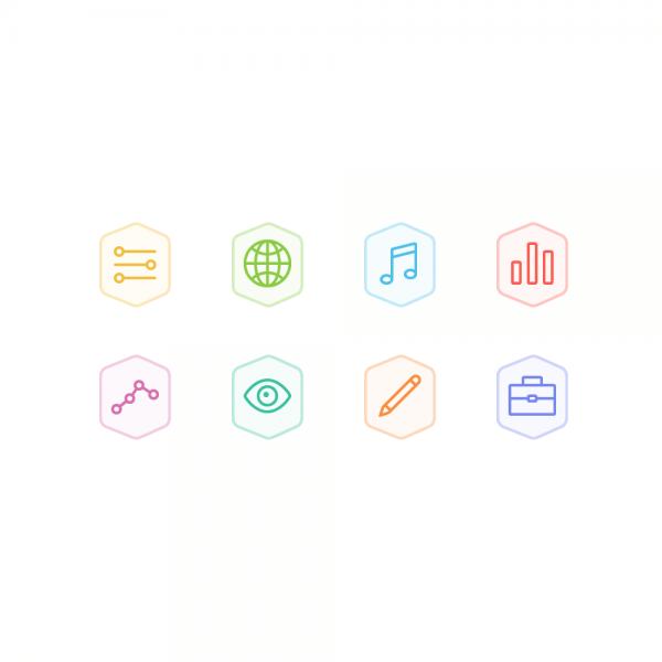 Bertie Icons - Mini Set 5 vector