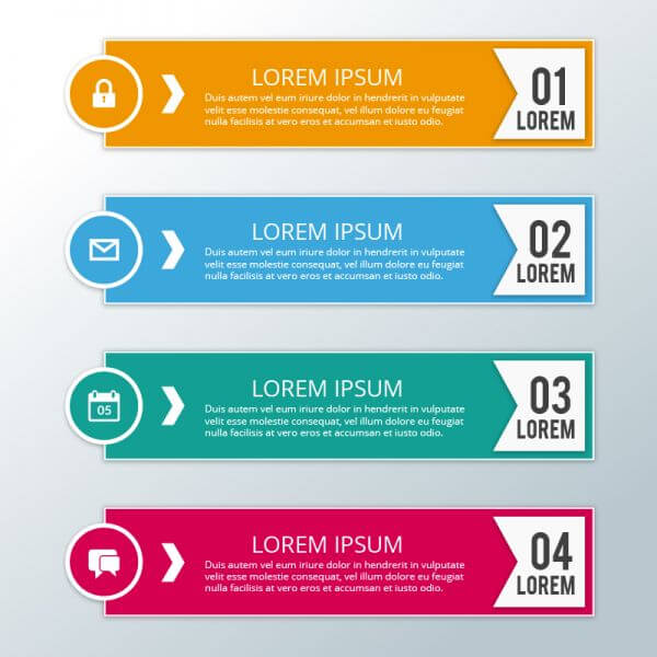 Modern business infographic steps vector