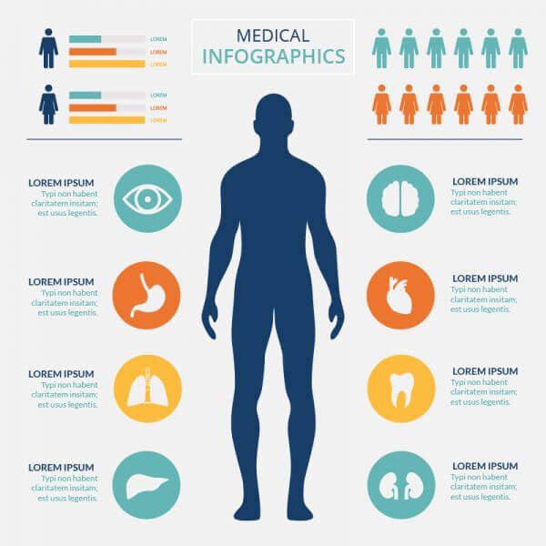 Medical healtcare infographic vector